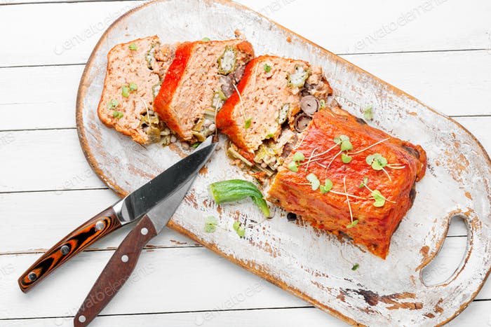 Meat terrine or meatloaf.