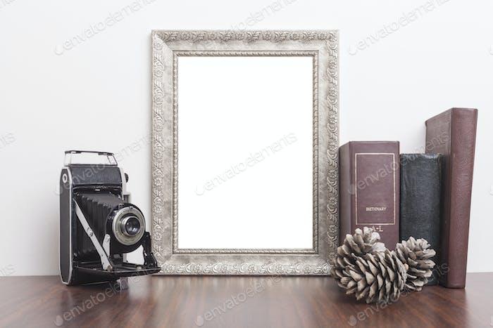 Vertical Silver Frame
