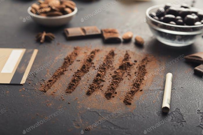 Sucht von Schokolade konzeptionellen Hintergrund