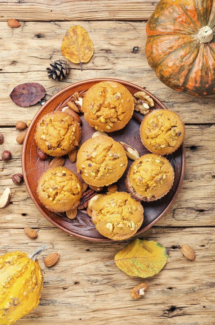 Autumn pumpkin muffins