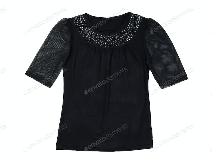 Black fishnet blouse
