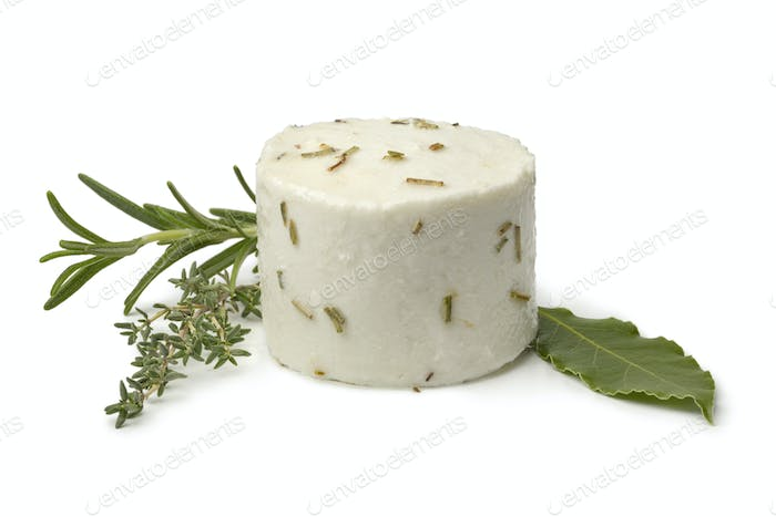 Single preserved white organic Dutch goat cheese