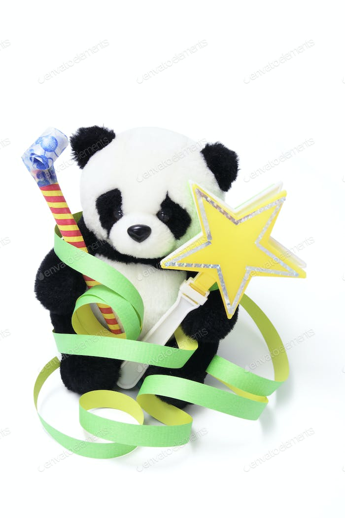 Soft Toy Panda with Party Favors