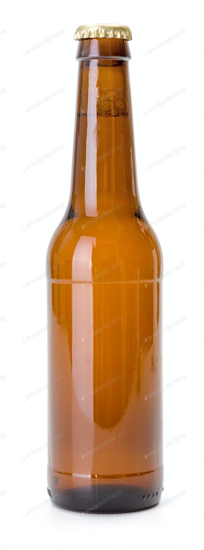 Brown beer bottle