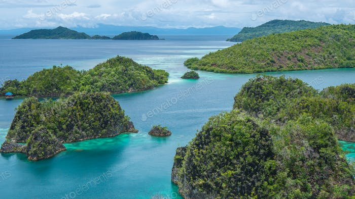 Some Rock Island in Painemo, Raja Ampat, West Papua, Indonesia
