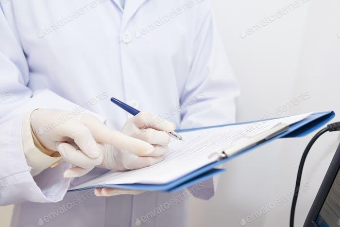 Filling medical record