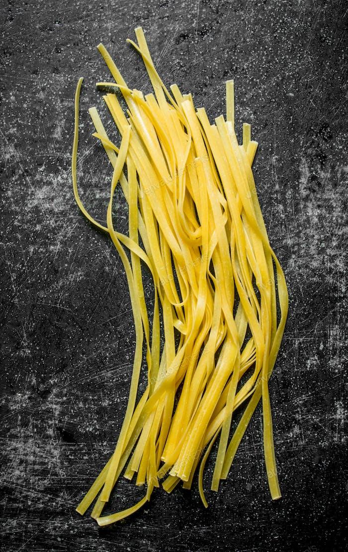Home made pasta raw.