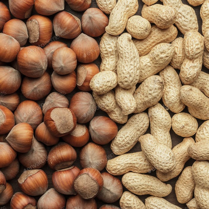 Peanuts And Hazelnuts