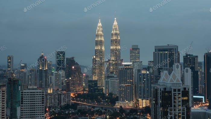 Evening in Kuala Lumpur, Malaysia
