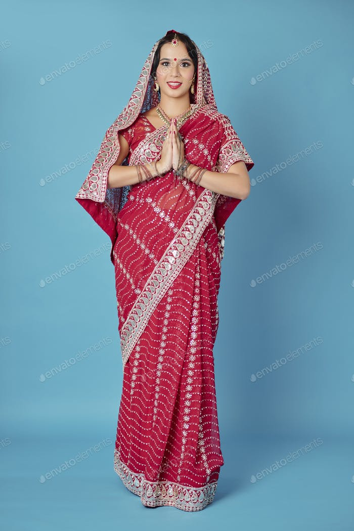 Indian bride in traditional dress
