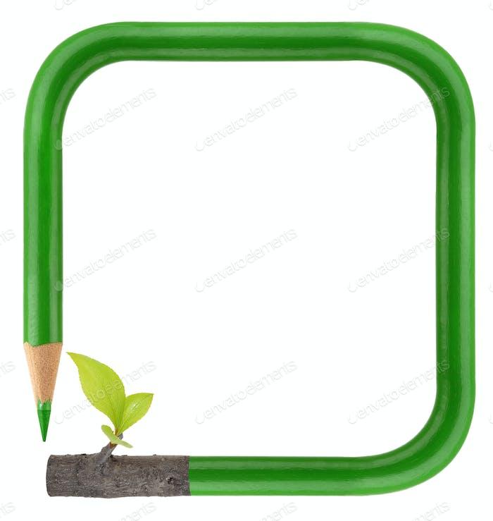 Eco green pencil frame