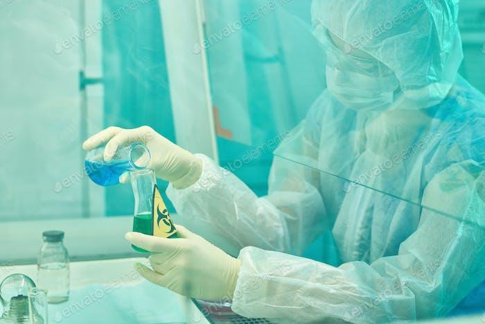 Female Scientist Researching Viruses