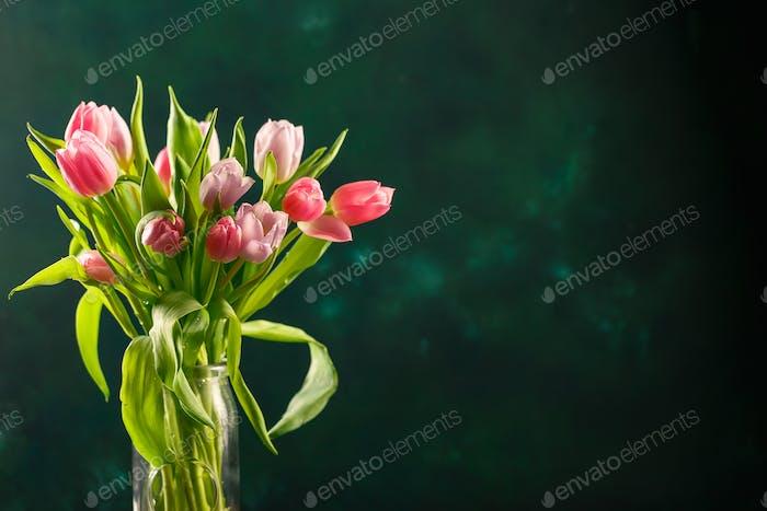 Blumenstrauß rosa Tulpen