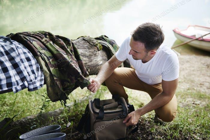Preparation for fishing