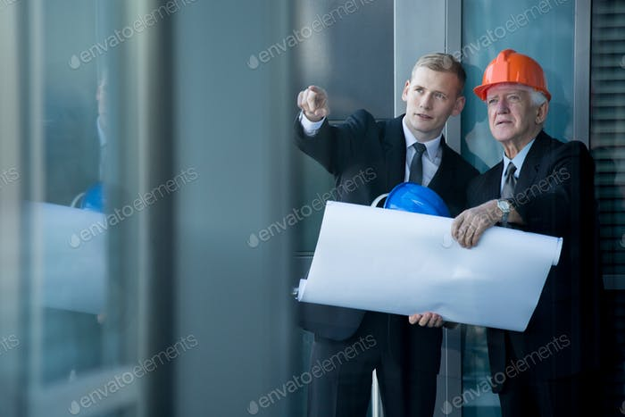 Architekten bei der Arbeit