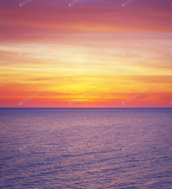 Colours of sea sunset.
