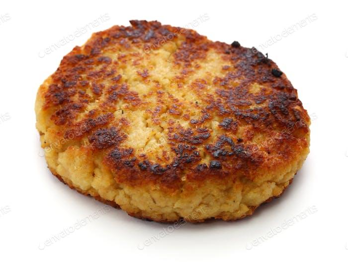 gekochte Burgerpastete aus Sojafleisch.