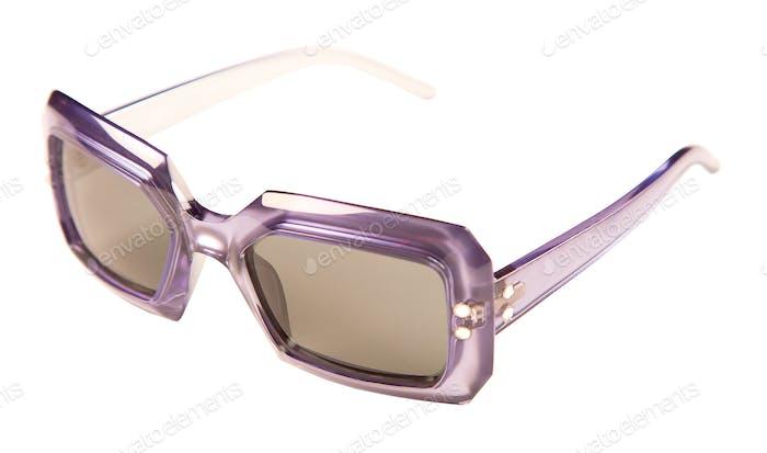 Translucid purple rimmed vintage sunglasses