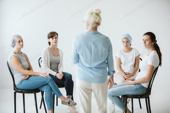 Psychologist and patients