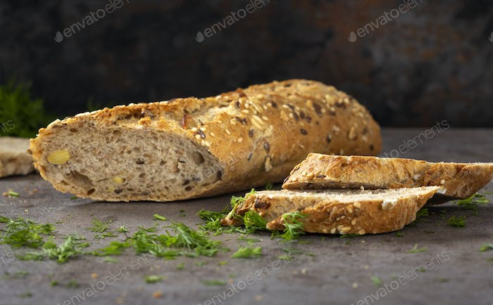 Bread with different seeds