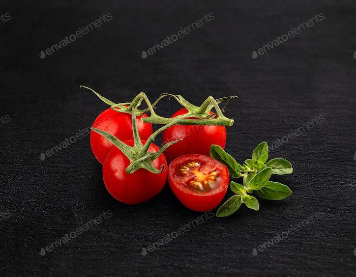 Red cherry tomatoes