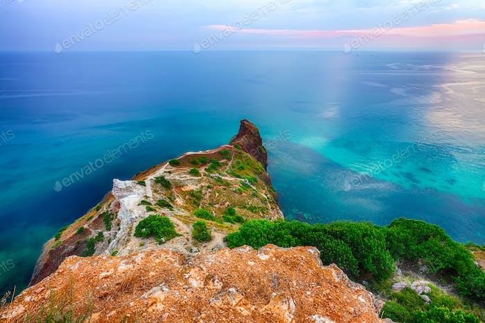 Fiolent , Crimea - sea landscape.