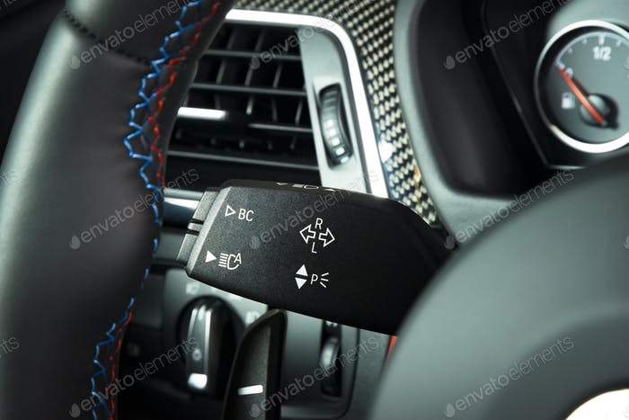 lights switch in car interior