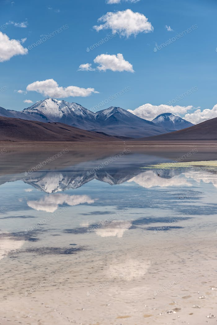 Reflection of the Andes in the southwest of the altiplano