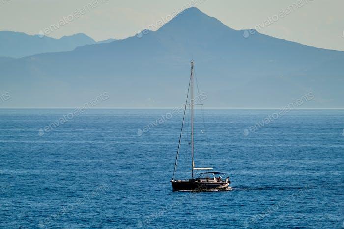 Yacht in Ägäis