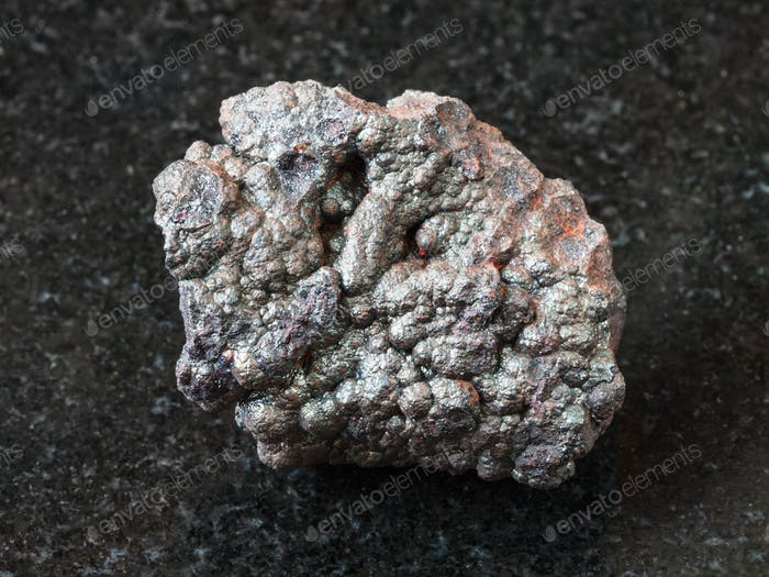 Goethite stone (brown iron) on black