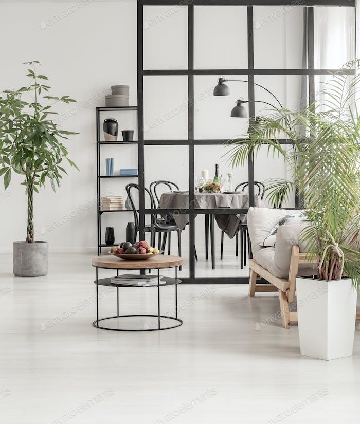 White and black minimal kitchen