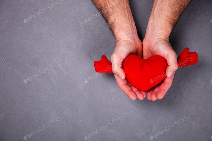 Weihnachtsgeschenk Valentinstag Konzept der Liebe, Glück, Romantik