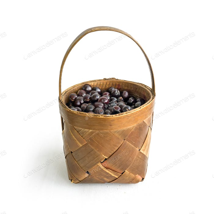 A basket of garden cherry
