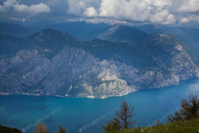 Garda Lake top view