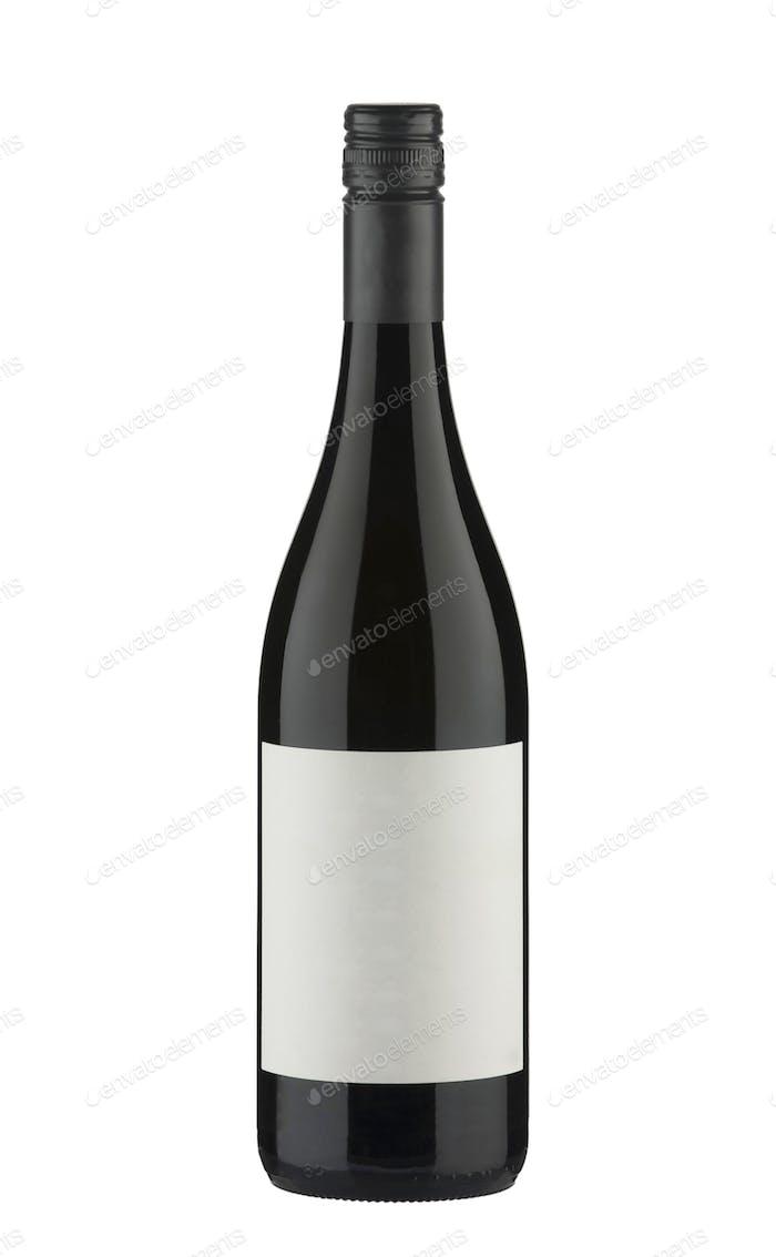 Sparkling wine bottle isolated