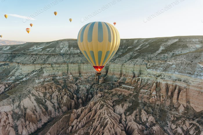 Hot air balloons festival in Cappadocia, Turkey