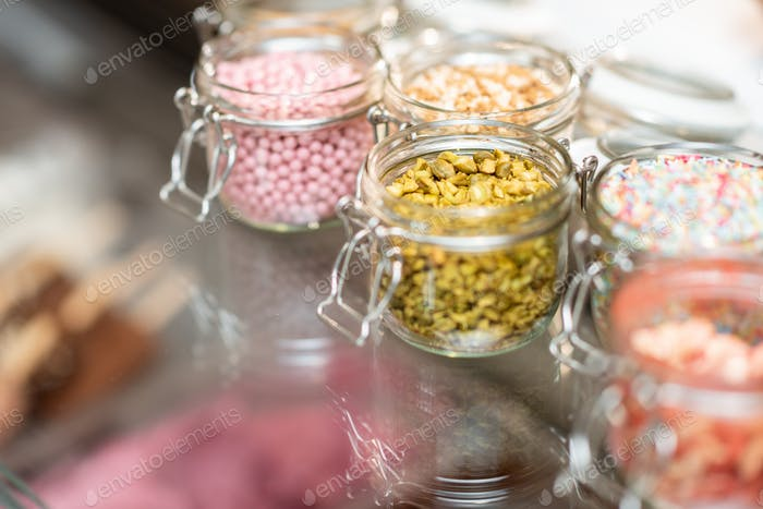 Food toppings for ice cream