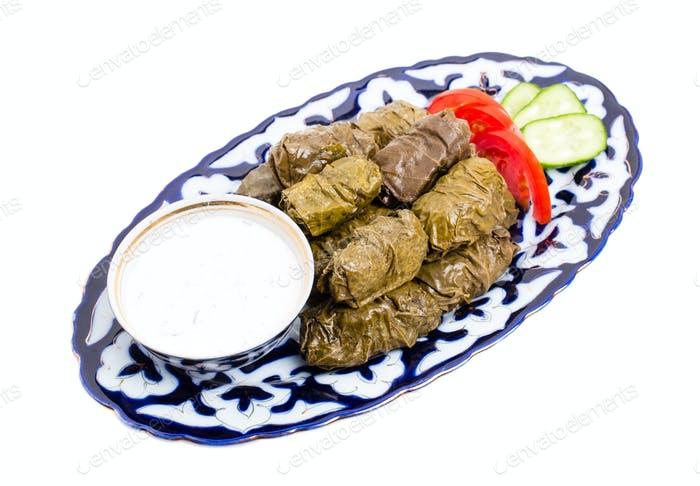 Traditional eastern appetizer dolma.