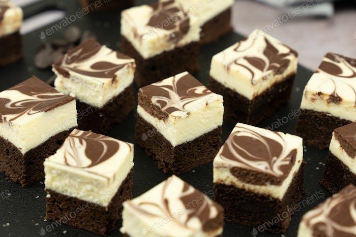 Käsekuchen Wirbel Brownie