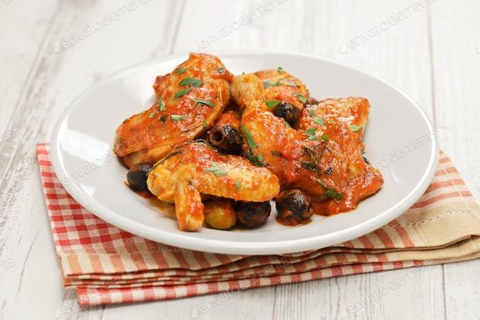 chicken cacciatora, italian cuisine