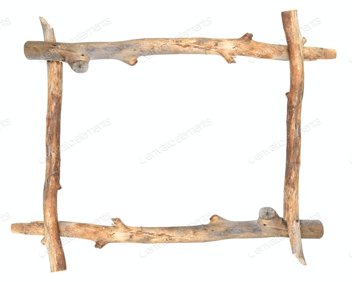 Frame of dry  branches