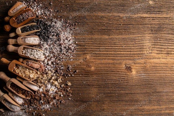 Assorted gourmet salts