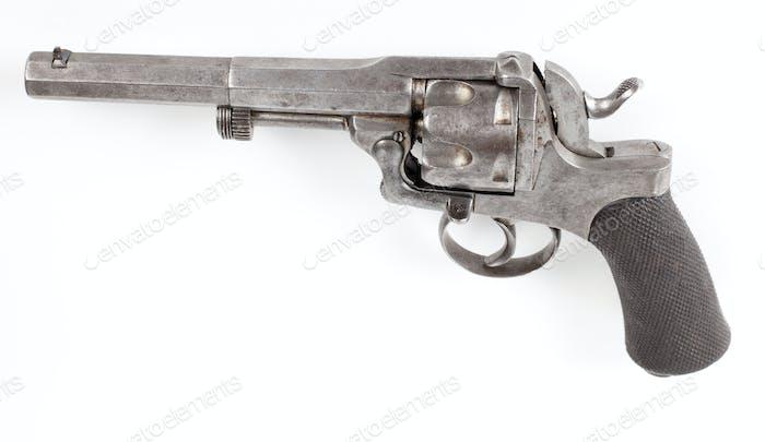 rusty silver pistol