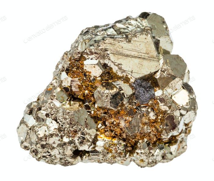 Roheisen Pyrit Stein isoliert
