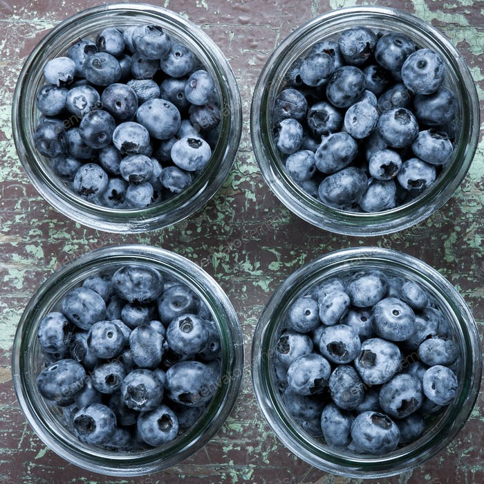 Homemade blueberries compote