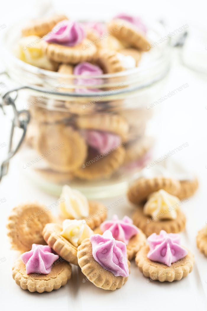 Sweet mini dessert cookies.