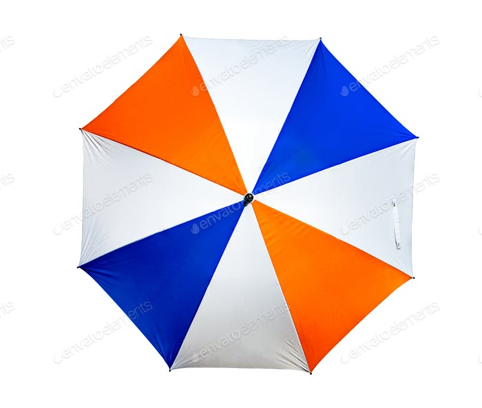 Umbrella use with garden furniture or golf