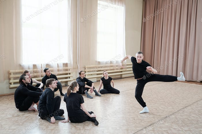 Man Showing Dance Move
