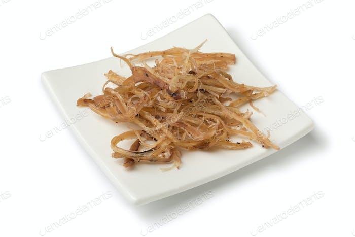 Traditional dried shredded seasoned squid