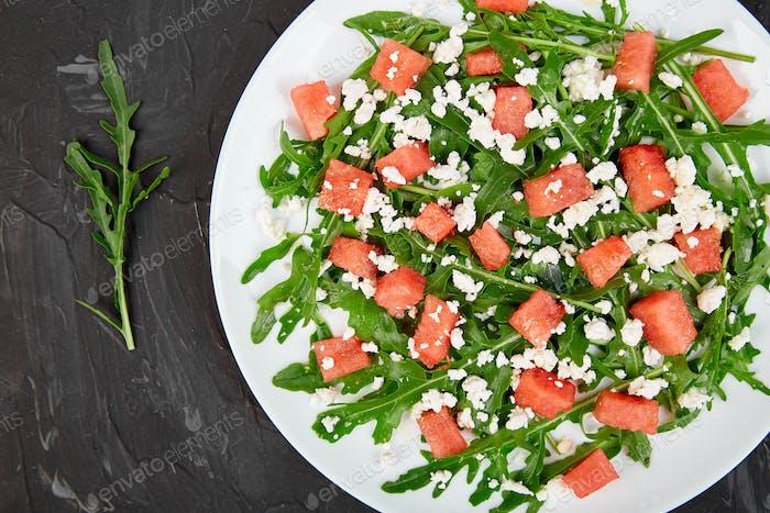 Frische Sommer-Wassermelonen-Salat